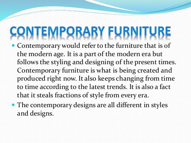 Modern Vs Contemporary Furniture