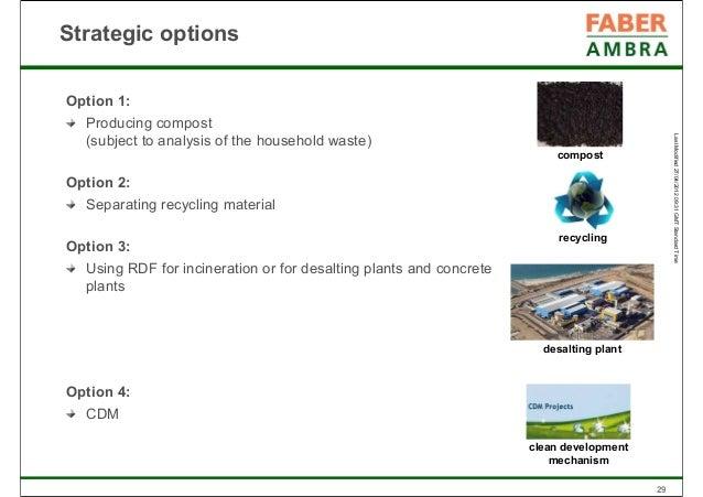Modern waste management concept e