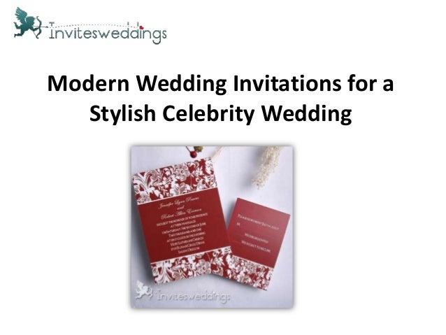Modern Wedding Invitations for aStylish Celebrity Wedding