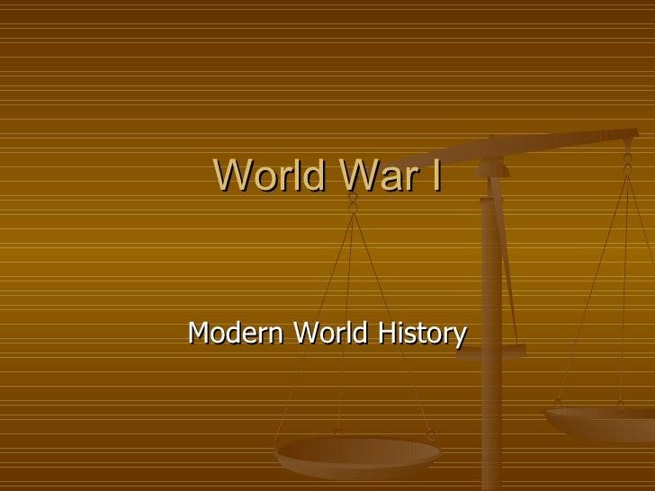 World War I Modern World History