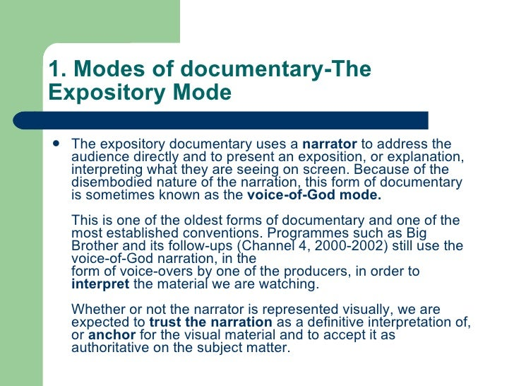modes of documentary 1