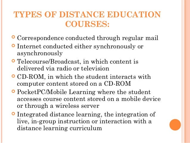 on line distance mode of learning A hallmark of distance education has been its reliance on learner autonomy, also  called independent  group development in online distance learning groups.