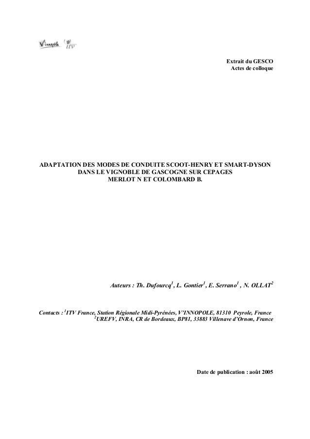 Extrait du GESCO                                                                         Actes de colloqueADAPTATION DES M...
