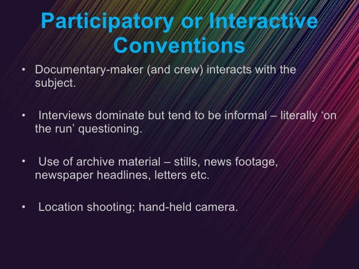 modes of documentary  conventions
