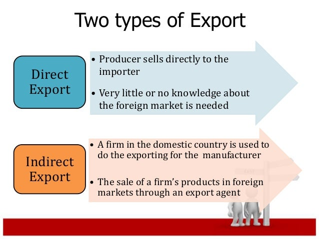 what is direct exporting with examples