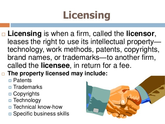 Intellectual Property Licensing Issues