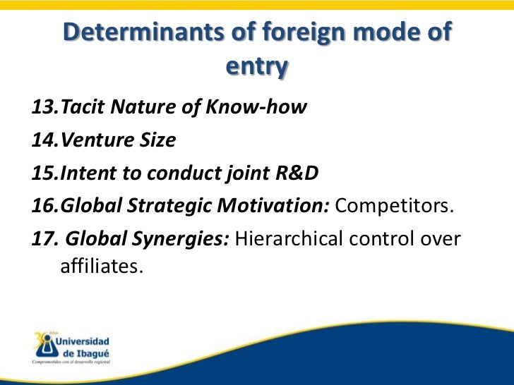 factors motivating firms to venture into foreign markets Internationalization and entry strategy of markets as well as easy penetration of domestic market by foreign firms go into joint venture or finally.