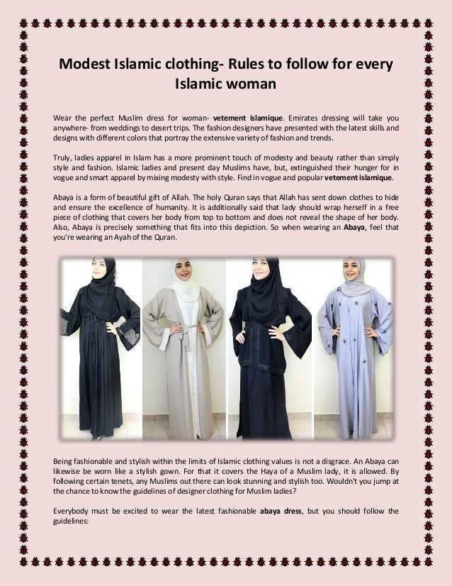 Modest Islamic Clothing Rules To Follow For Every Islamic Woman
