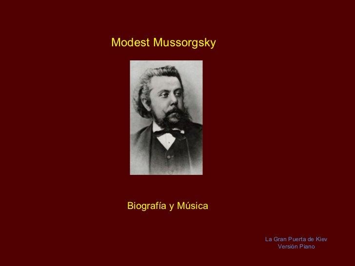Modest Mussorgsky - Sämtliche Klavierwerke
