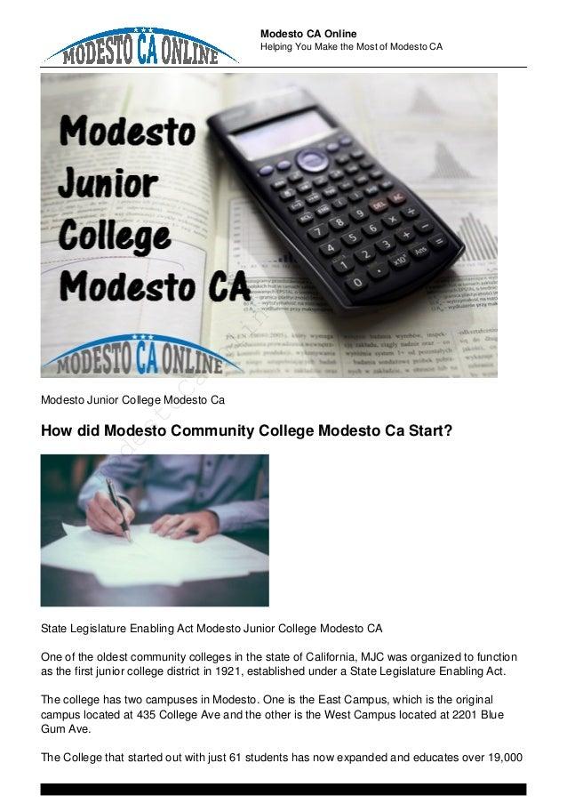 Modesto Junior College Modesto CA Slide 2