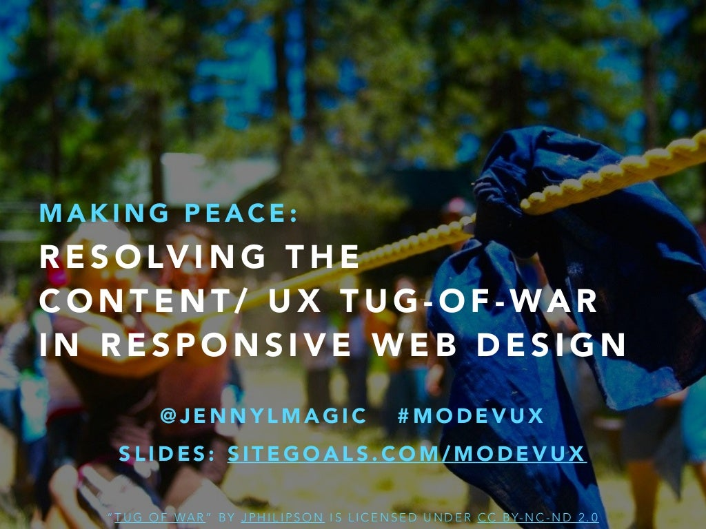 Making Peace: Resolving the Content/ UX Tug-of-War in Responsive Web Design