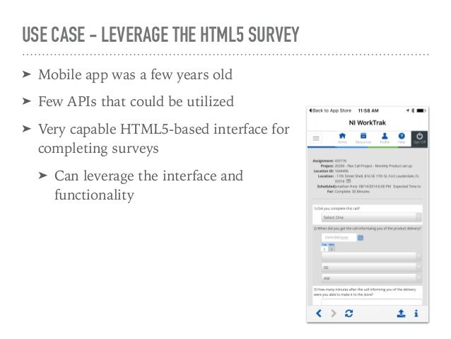 DETERMINE THE PLATFORM ➤ Move past personal biases ➤ Not as simple as iOS vs. Android ➤ Win mobile, responsive, mobile fra...