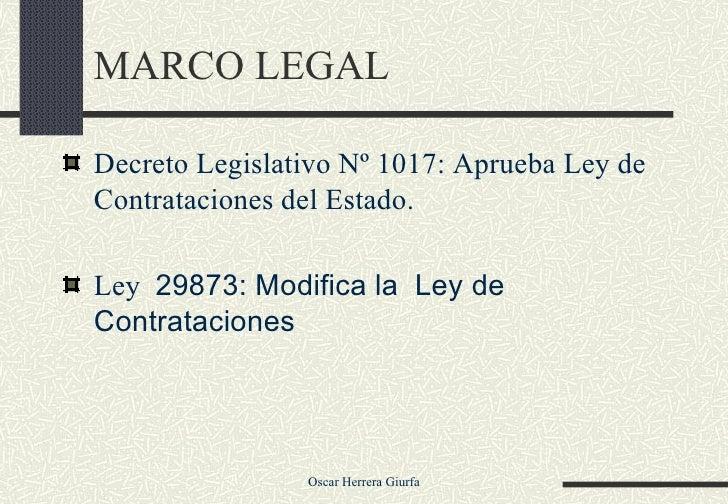 Modificaciones a la ley de contrataciones Slide 2