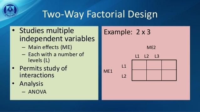 2 x 3 factorial design example