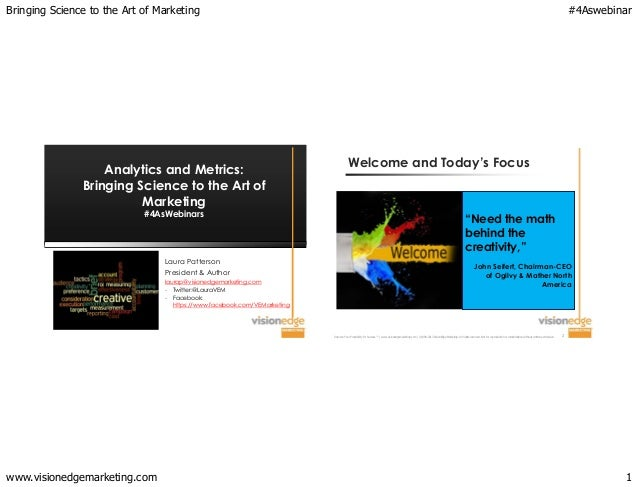 Bringing Science to the Art of Marketing   Analytics and Metrics: Bringing Science to the Art of Marketing #4AsWebinars  L...