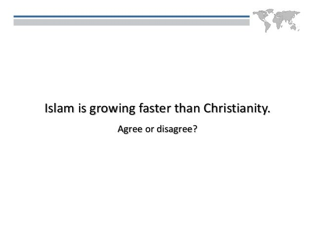 christianity growing faster than islam