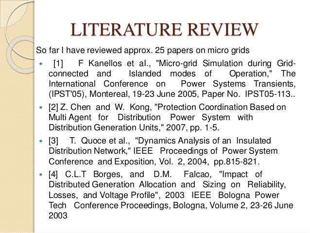 literature review on distributed generation allocation engineering essay Nine characteristics of high‐performing schools  schools improve in each of the characteristics of high-performing schools  review of the research literature.