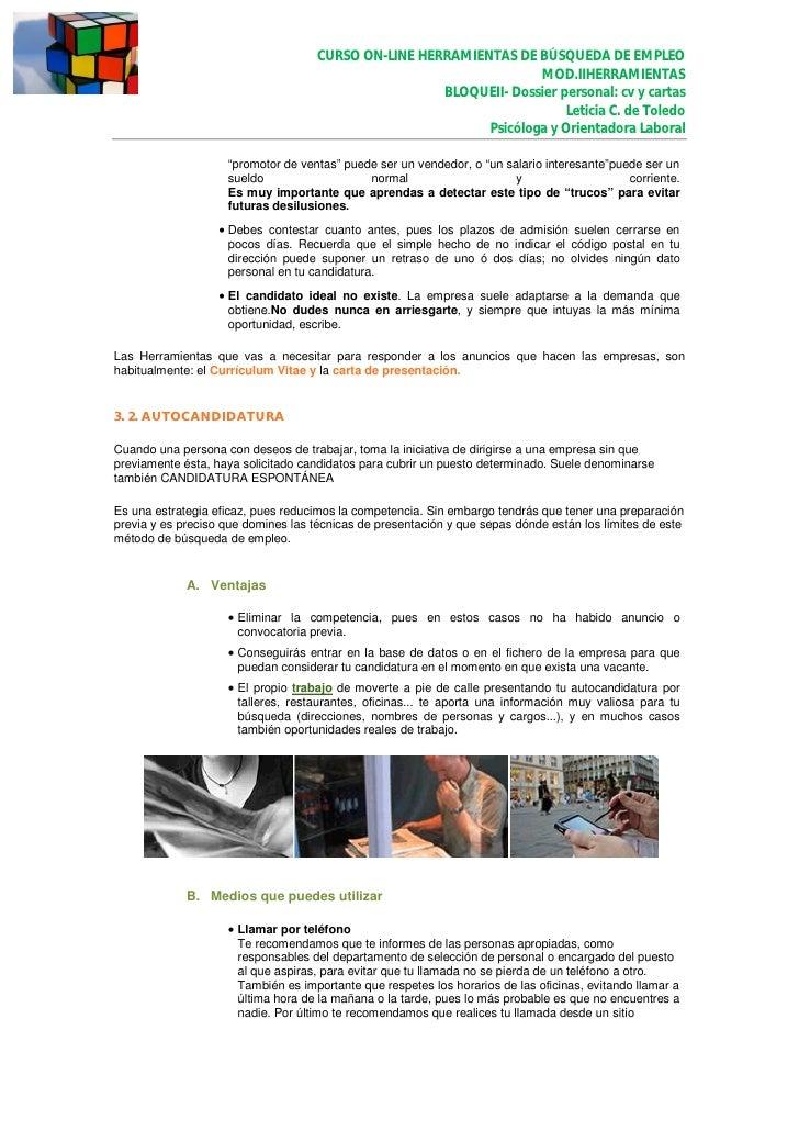 Mod ii. herramientas bloque ii. cv y carta presentacion