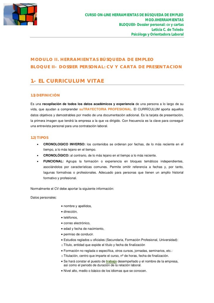search results for  u201cejemplos de curriculum vitae