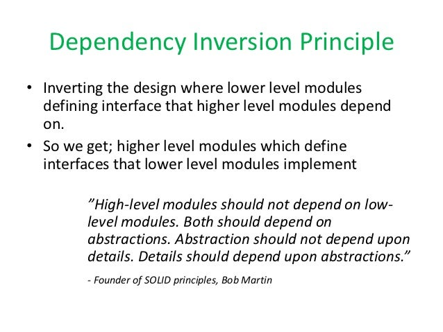 Mock Objects Design And Dependency Inversion Principle
