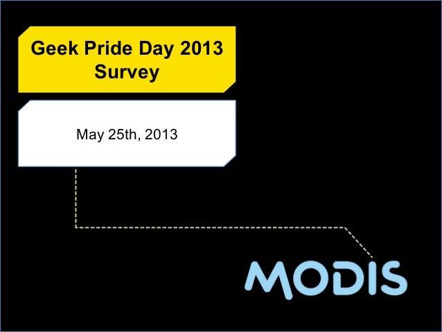 May 25th, 2013Geek Pride Day 2013Survey