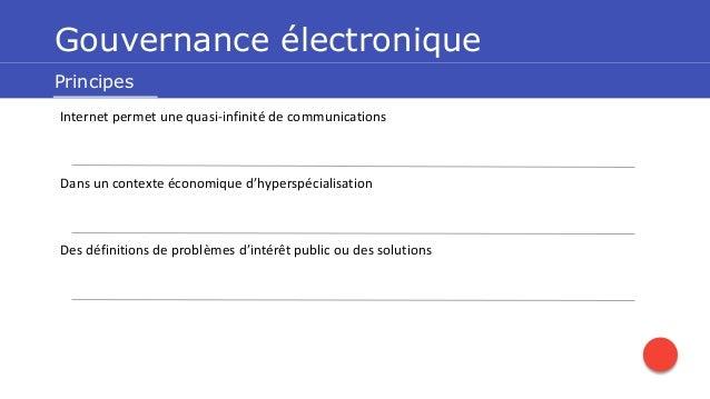 La gouvernance démocratique et les technologies Slide 2