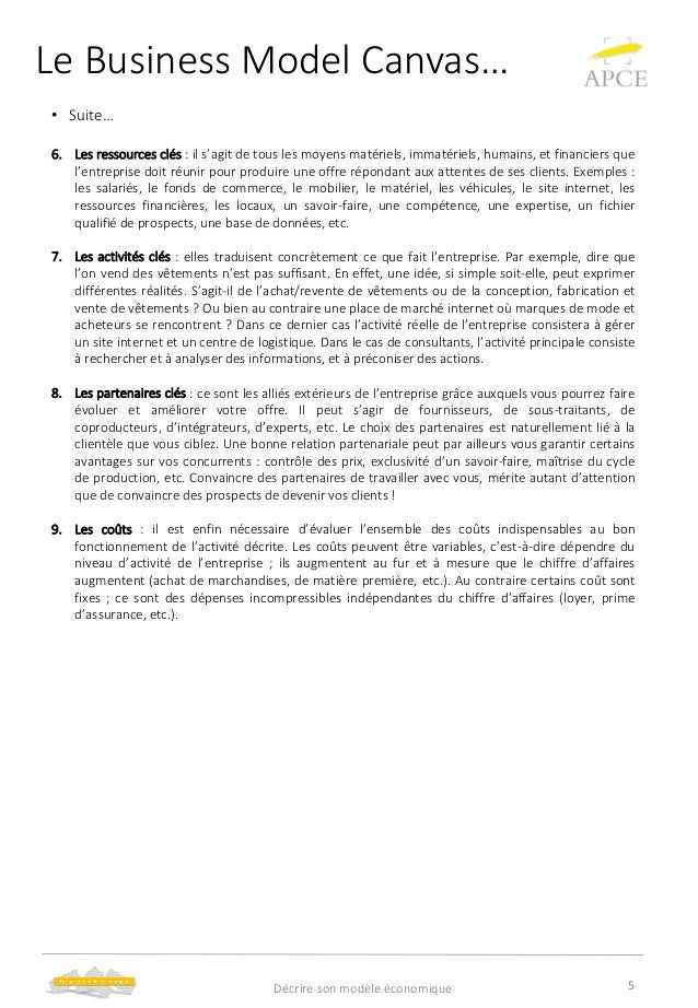 modèle business plan afic