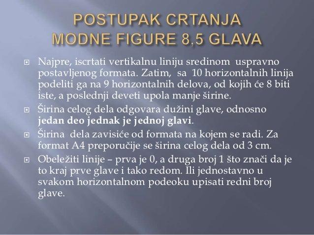 MODNA FIGURA 8,5 GLAVABitni delovi tela imaju sledećepozicije:- Glava zauzima centralni poloţaj uprvom podeoku.- Na gornjo...