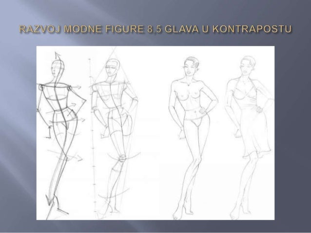    Inicijalni postupak konstrukcije isti je kao i kod    konstrukcije osnovne modne figure od 8,5    glava, s tim što je ...