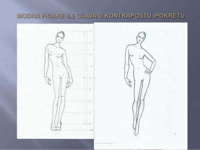    Principi konstrukcije modne figure u    nestatičnom i nesimetričnom    poloţaju, prikazani kod modne figure od 8,5    ...