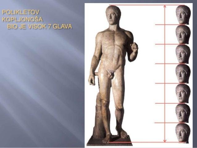 KLASIČNA FIGURADanas se smatra da jevisina prosečne -klasične ljudske figurejednaka visini 7,5 do 8glava.