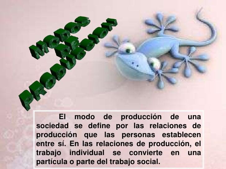MODOS<br /> DE<br /> PRODUCCION<br />El modo de producción de una sociedad se define por las relaciones de producción que ...