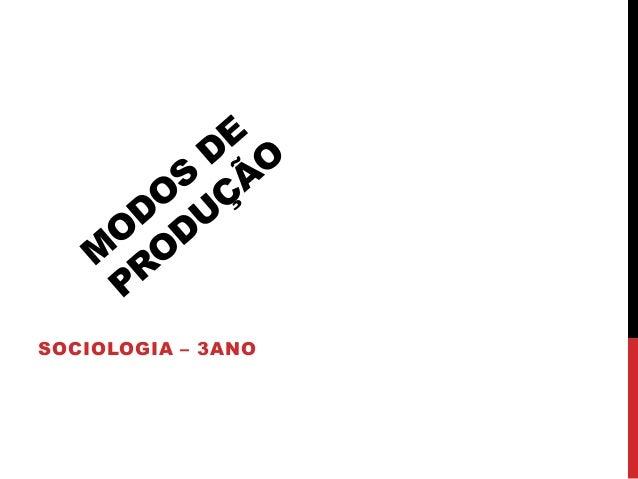 SOCIOLOGIA – 3ANO