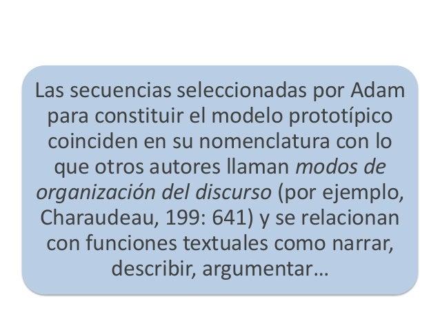 Modos de organización textual Slide 2