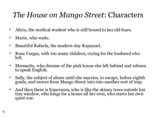 an analysis of the theme of alienation in house on mango street by sandra cisneros Childhood alienation of esperanza in the house on mango street by sandra cisneros in six pages this paper examines the meaning of esperanza's alienation as a child.