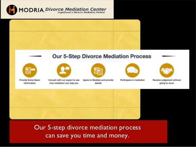 Our 5-step divorce mediation processcan save you time and money.