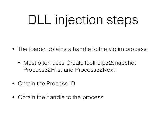Process injection - Malware style