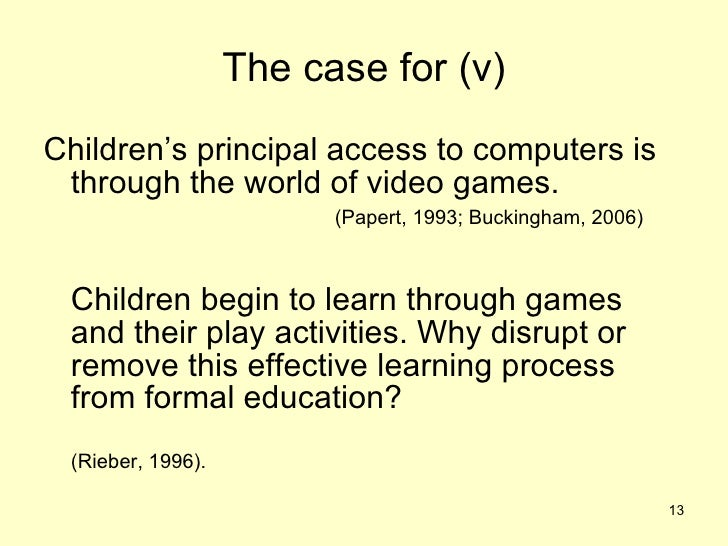 Children learn through play theorists