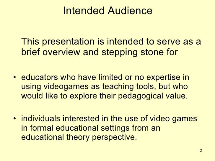 Essays on video games and education