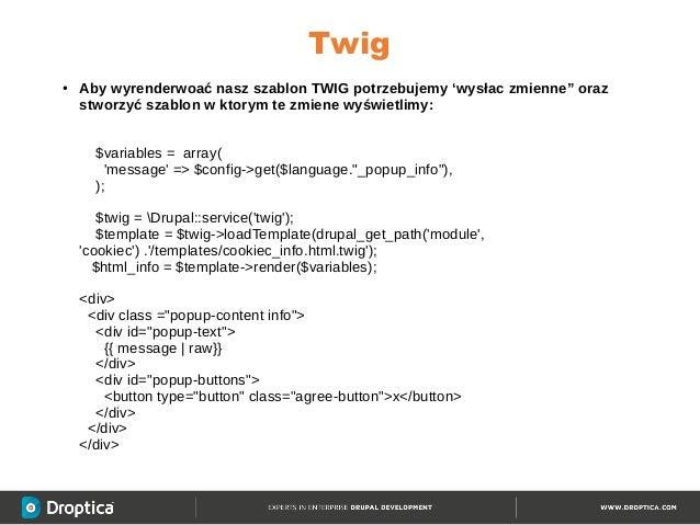 twig template variables - modu dla drupal 8 drupalday warszawa 2016 12 03