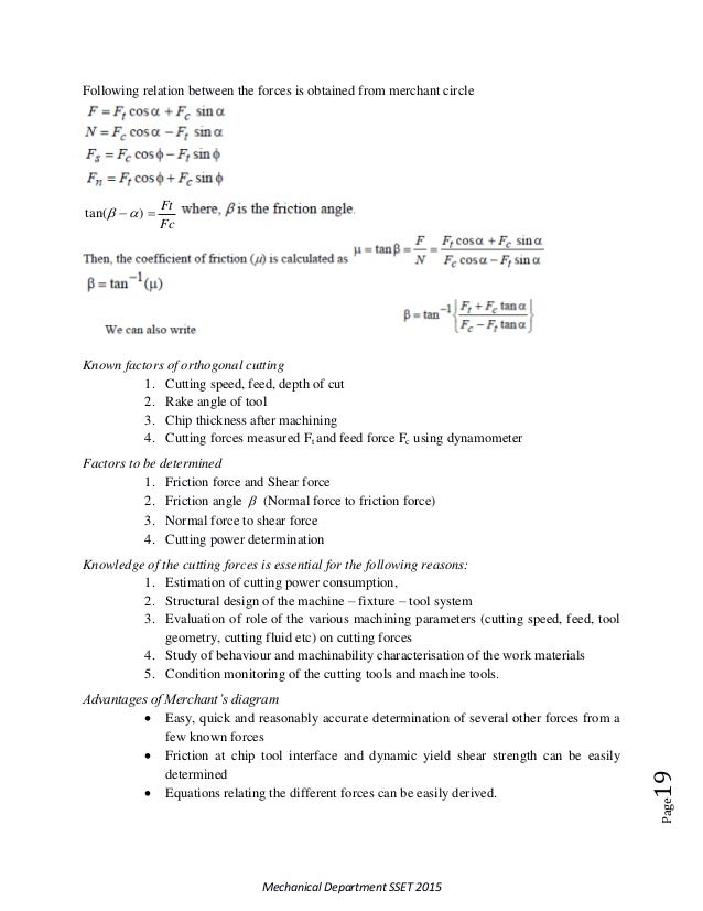 Theory of metal cutting mg universitys8 production notes 19 ccuart Images