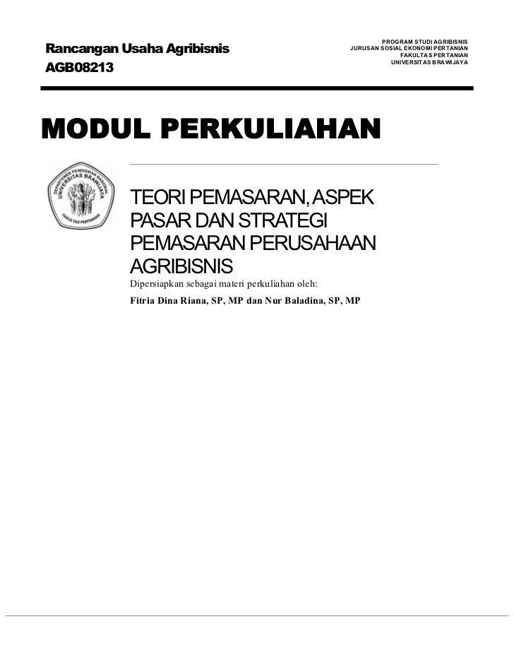 Rancangan Usaha Agribisnis                                                                   PROGRAM STUDI AGRIBISNIS     ...