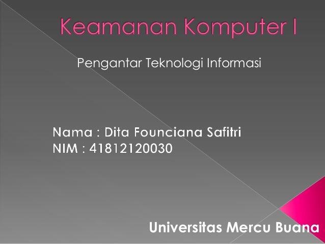 Pengantar Teknologi Informasi Universitas Mercu Buana