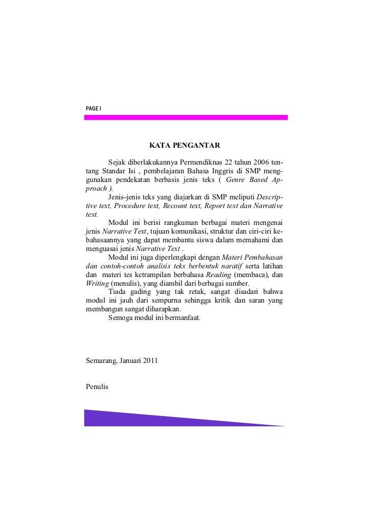 PAGE I                     KATA PENGANTAR        Sejak diberlakukannya Permendiknas 22 tahun 2006 ten-tang Standar Isi , p...