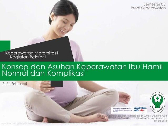 Konsep dan Asuhan Keperawatan Ibu Hamil Normal dan Komplikasi Semester 05 Kegiatan Belajar I Keperawatan Maternitas I Bada...