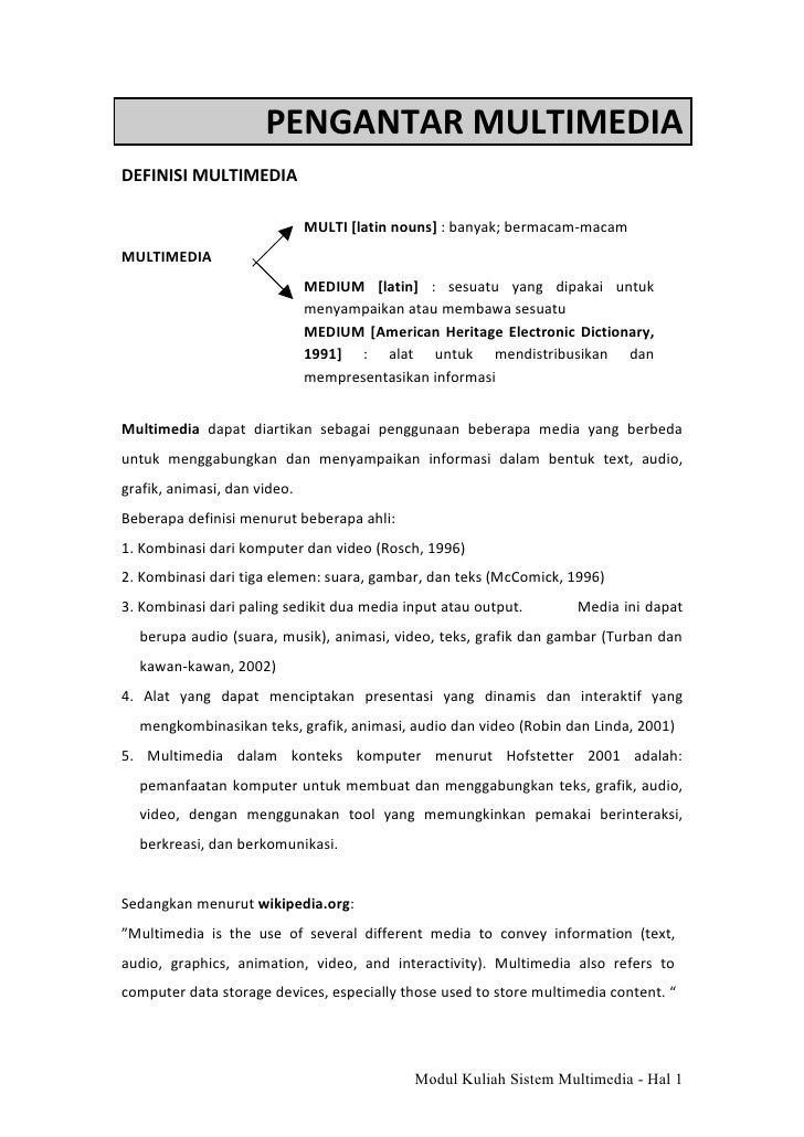 Modul 1 sistem multimedia pendahuluan