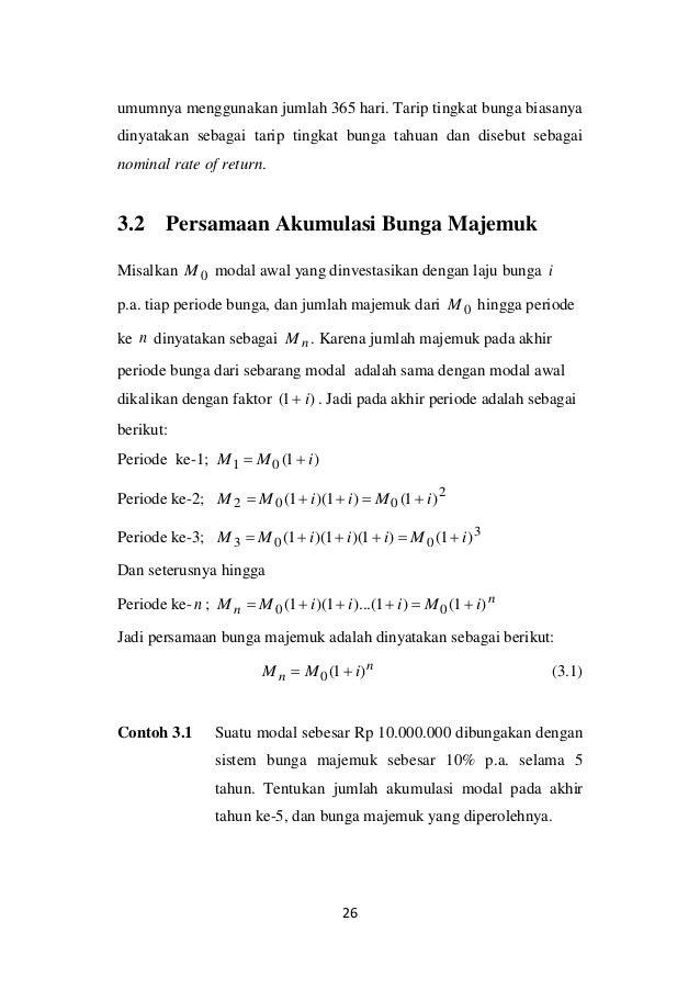 Bunga Majemuk Matematika Keuangan