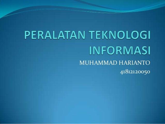 MUHAMMAD HARIANTO         41812120050