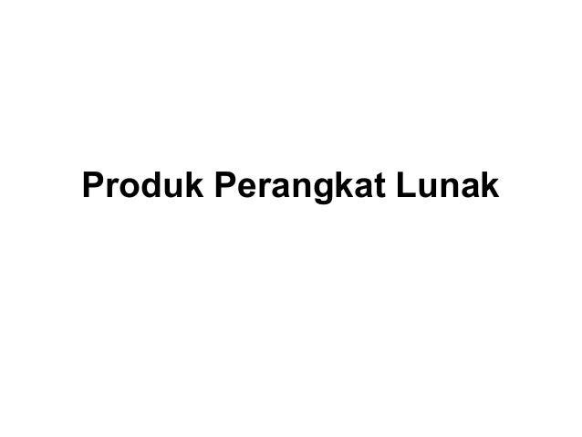 Produk Perangkat Lunak