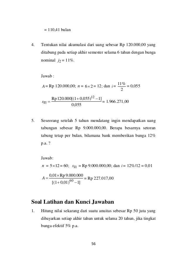 Anuitas Biasa Matematika Keuangan